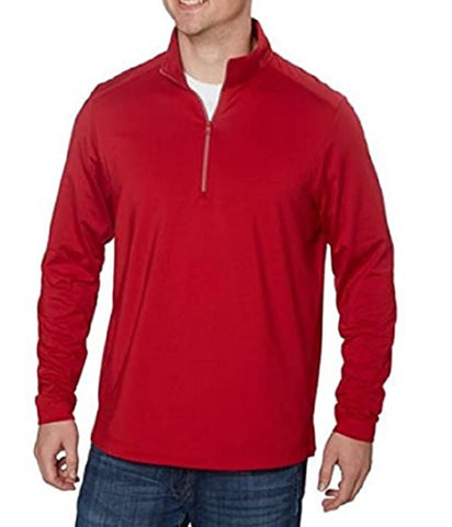 Greg Norman Signature Series Play Dry Mens 1/4 Zip Pullover Shirt - Red
