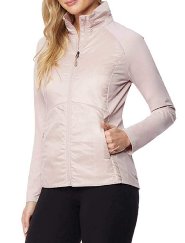 32 Degrees Ladies' Lightweight Mixed Media Jacket - Rose Water