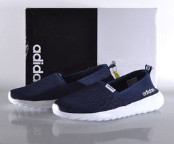 Adidas Women's Cloudfoam Lite Racer Slip-On Running Shoes - Navy New!