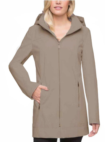 Andrew Marc Ladies Long Softshell Jacket - Thistle Beige