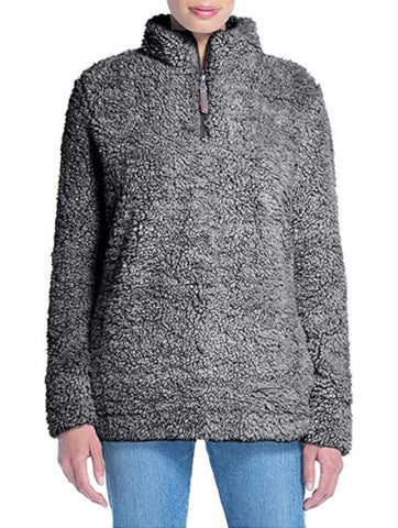 Weatherproof Vintage Women's Frosty Tipped Sherpa Pullover - Charcoal