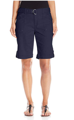 Gloria Vanderbilt Women's Sierra Stretch Twill Short with Belt - Midnight Affair
