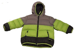 Snozu Boys Down Puffer Jacket - Grey/Lime/Silver