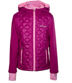 Snozu Girls Hooded Softshell Jacket - Berry