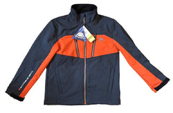 Snozu Boy's Softshell Fleece Lined Jacket Charcoal Grey and Orange