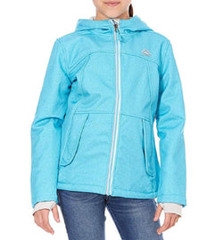 Snozu Hooded Softshell Jacket For Girls - Blue Denim