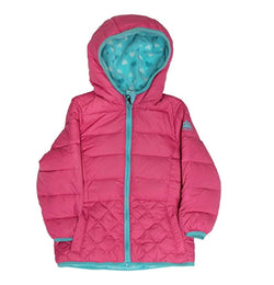 Snozu Girls' Fleece Lined Down Jacket Fuchsia
