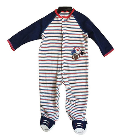 Little Me Boy's Bodysuit Romper - Striped Football