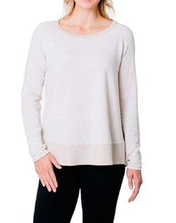Kersh Womens Long Sleeve Scoop Neck Sweater - Husked Tan