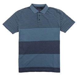 Nautica Men's Short Sleeve Knit Polo Golf Shirt Striped - Tide Blue
