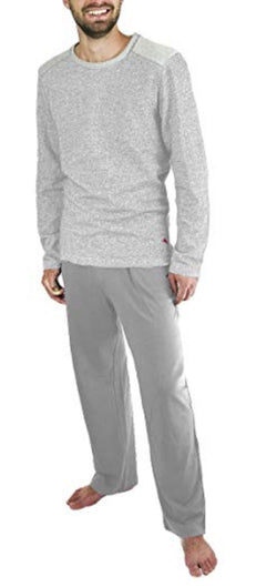 Tommy Bahama Men's Long Sleeve Top & Pant Pajama Set - Grey