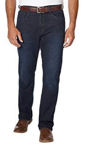 Urban Star Men's Relaxed Fit Straight Leg Jeans - Dark Rinse