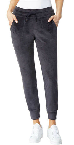 32 Degrees Heat Women's Velour Jogger Pants Black
