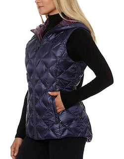 Gerry Women's Reversible Packable Down Vest - Indigo/Port Sz Small