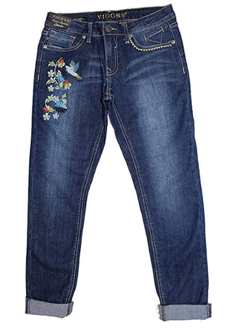 Vigoss Girls' Ankle Skinny Jeans - Hummingbird Blue