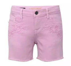 VIGOSS Girls Super Stretch Twill Mid-Shorts -Victory Pink