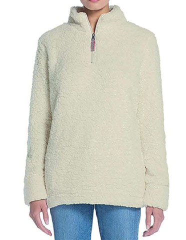 Weatherproof Vintage Women's Frosty Tipped Sherpa Pullover - Cream