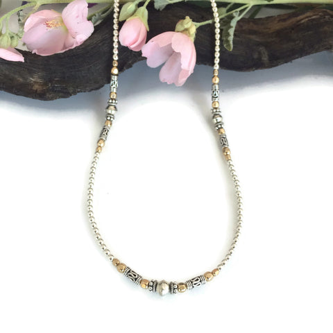 Everyday Silver & Gold Necklace