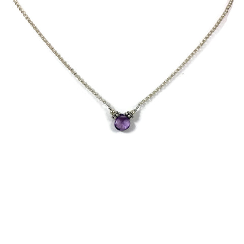 Single Briolette Tear Stone Necklace