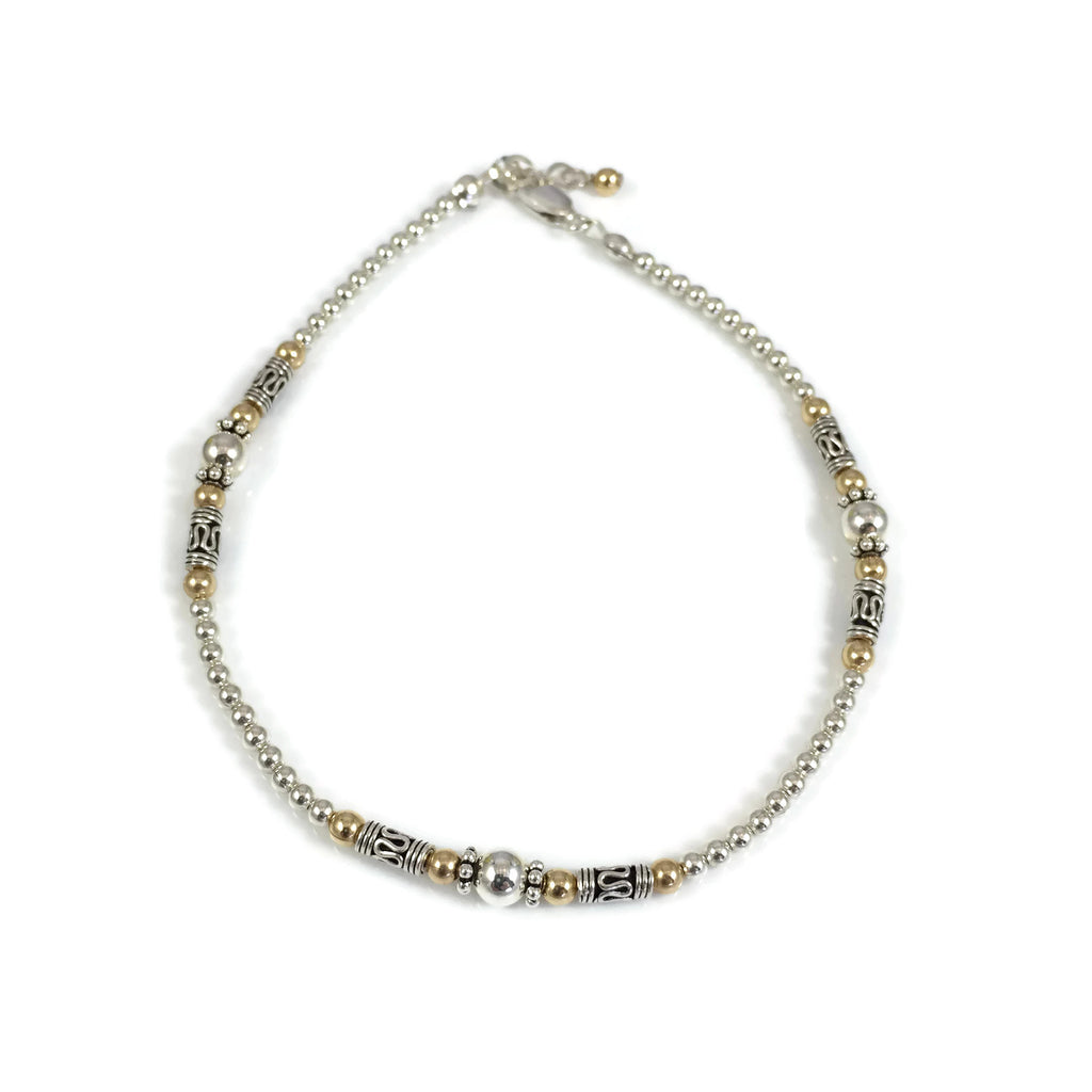 Jess Anklet In Silver & Gold