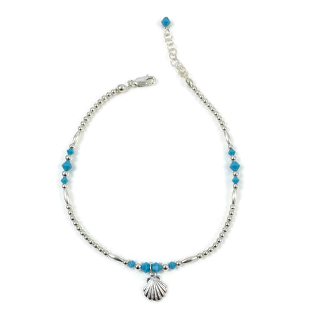 Turquoise Crystal Anklet Collection