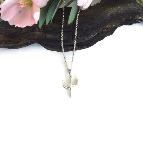 Baby Silver Saguaro Necklace