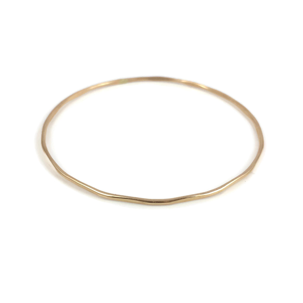 Gold Bamboo Bangle Bracelet