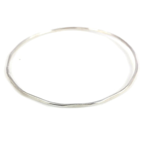 Thin Bamboo Silver Bangle