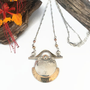 Basket Case Mixed Metals Necklace