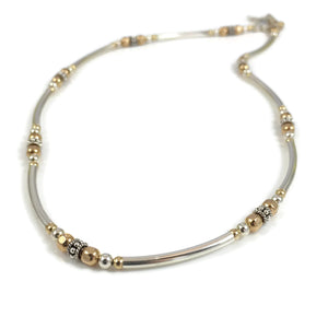 Bent Tube Mixed Metals Choker
