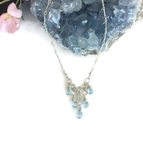 Briolette Stone Waterfall Necklace
