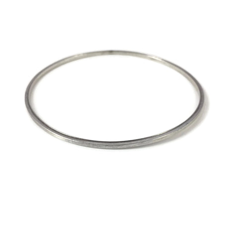 Square Wire Silver Bangle