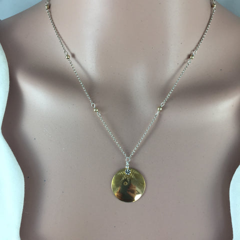 Brass Sunburst Disk Necklaces