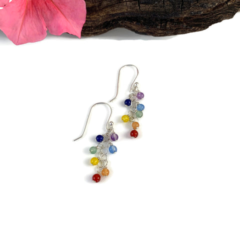 Chakra Bobble Earrings