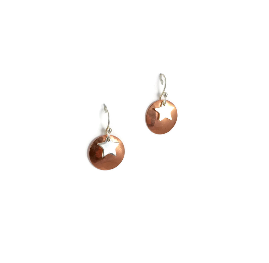 Copper & Silver Sky Earrings