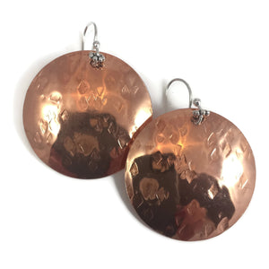 Copper XL Domed Textured Disks