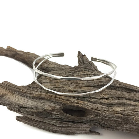Double Wire Sterling Cuff Bracelet