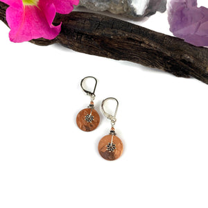 Simple Wheel Disk Earrings