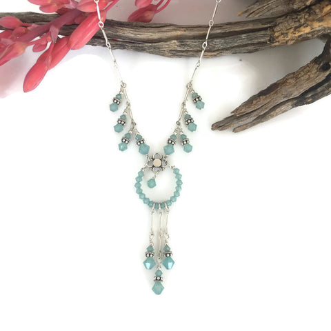 Dreamcatcher Crystal Necklace with Dangles