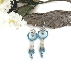 Dreamcatcher Crystal Dangling Earrings