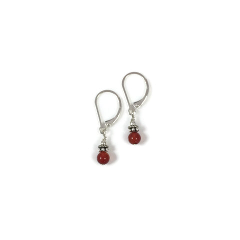 Small Stone Earring with Lever Back Ear Wires