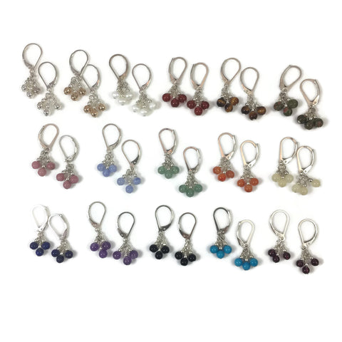 Stone Bobble Earrings