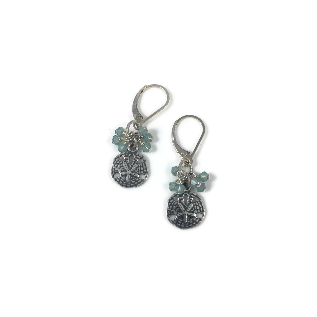 Sand Dollar Crystal Bobble Earrings