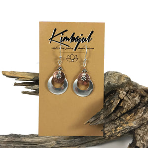 Silver Eclipse W/ Copper Earrings
