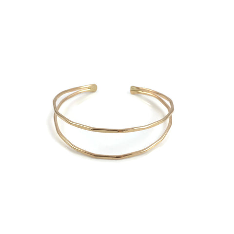 Double Wire Gold Filled Cuff Bracelet