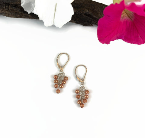 Copper Grape Bobble Earrings
