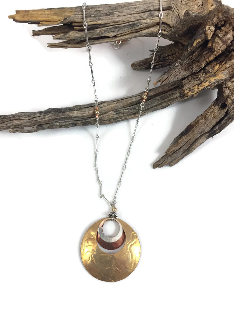 Groovy Mixed Metals Necklace