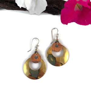 Large Eclipse Mixed Metal Earrings