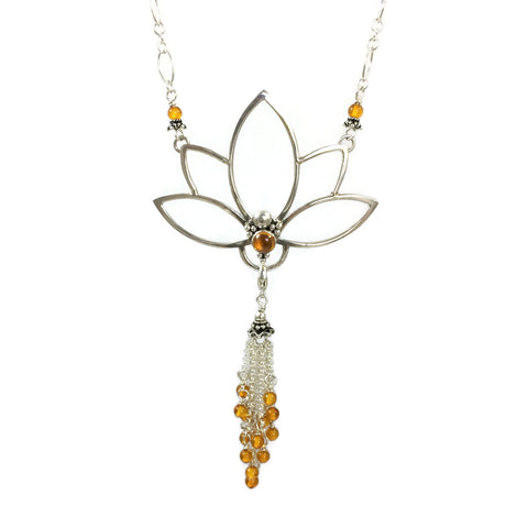 Lotus Pendant With Removable Tassel