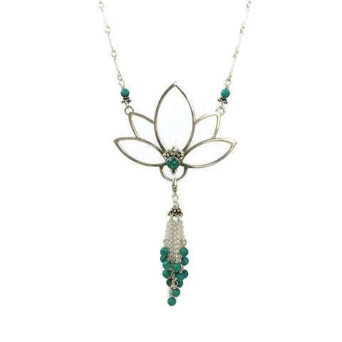 Lotus Necklace With Tassel